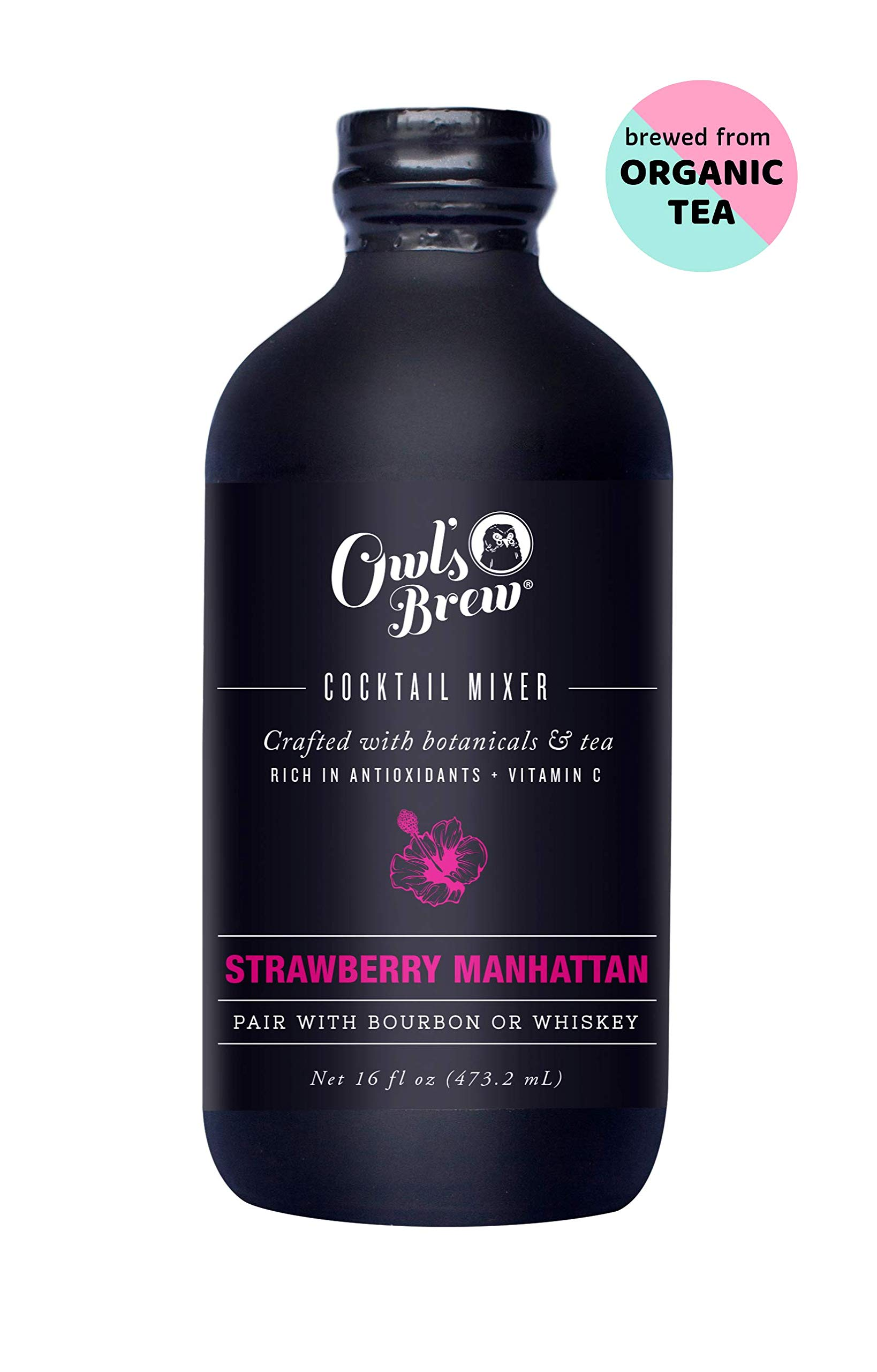 Owl's Brew Strawberry Manhattan Cocktail Mixer, 16 Ounce Bottle by OWL'S BREW