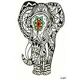 schwarz klebe tattoo elefanten bj018 schmuck tattoo orient tattoo zum kleben f r k per und hand. Black Bedroom Furniture Sets. Home Design Ideas