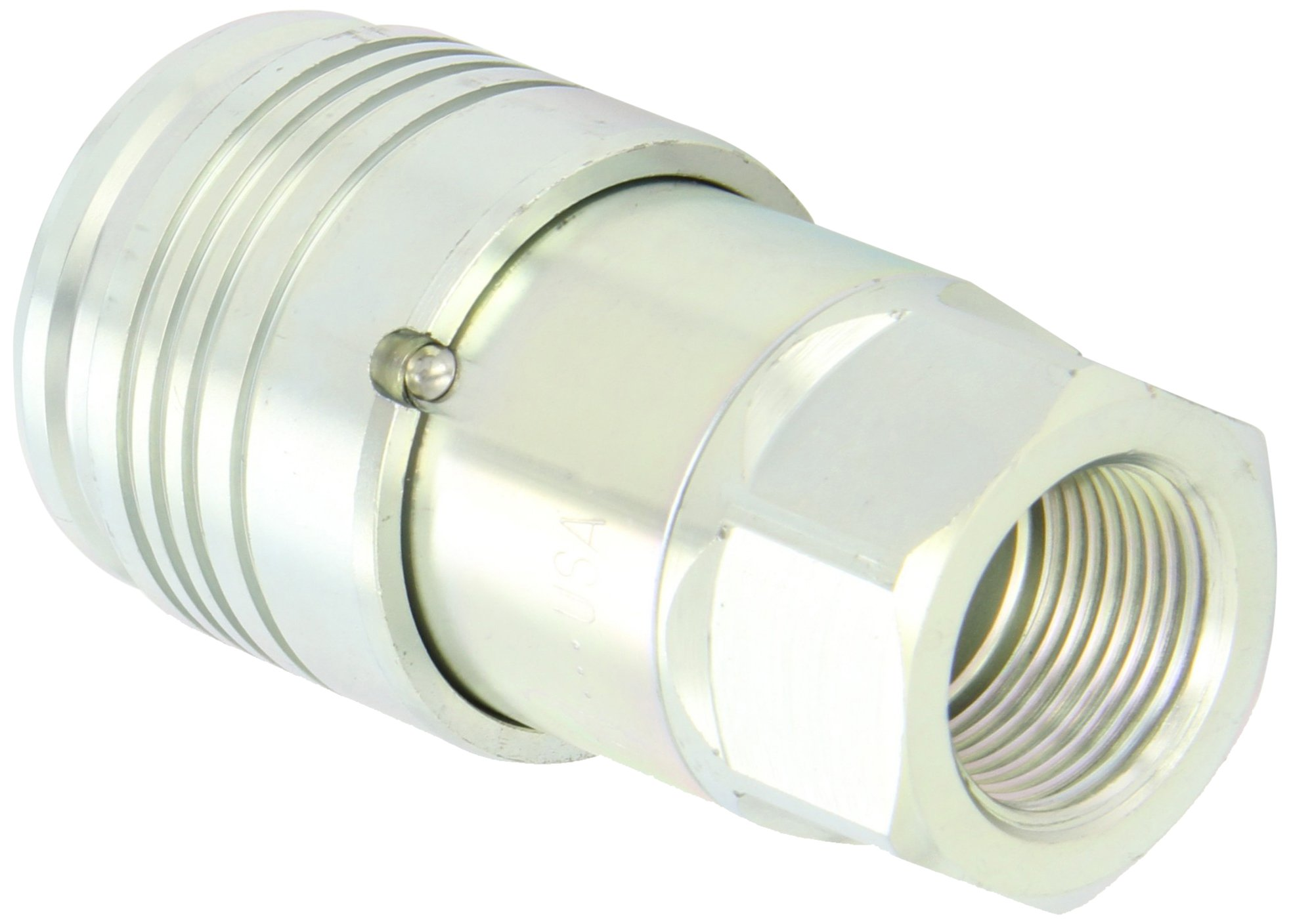 Dixon 8HTF8 Steel Flush Face Hydraulic Quick-Connect Fitting, Coupler, 1'' Coupling x 1''-11-1/2 NPTF by Dixon Valve & Coupling (Image #1)