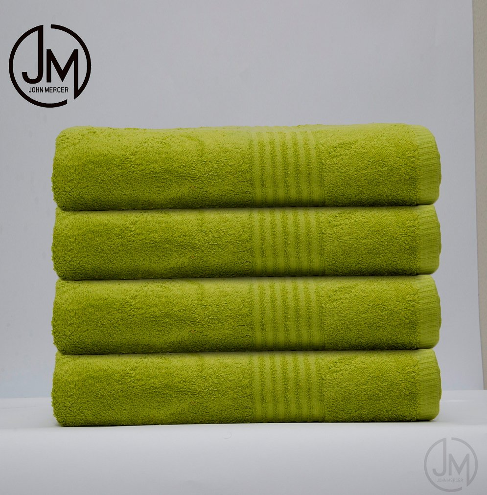 John Mercer 4 - Pack, Guest Towels Classic Soft & Durable ,100% Cotton (Refined Combed), W40 x L60cm (Fuchsia)