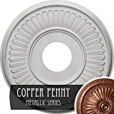 """Ekena Millwork CM15BECPS 15 OD X 3 7/8"""" ID X 3/4"""" P Berkshire Ceiling Medallion Fits Canopies Up to 7"""" Copper Penny"""