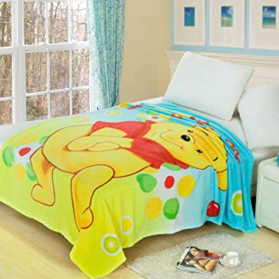 Anjos Winnie The Pooh Cartoon Boys Girls Kids Coral Fleece Blanket Throws Bedspread Sheet Super Soft Microfiber Polyester Print: Home & Kitchen