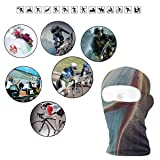 Lovely Whale Chase The Spark Glitter Star Full Face Masks UV Balaclava Hood Ski Headcover Motorcycle Neck Warmer Tactical Hood for Cycling Outdoor Sports Mountaineering