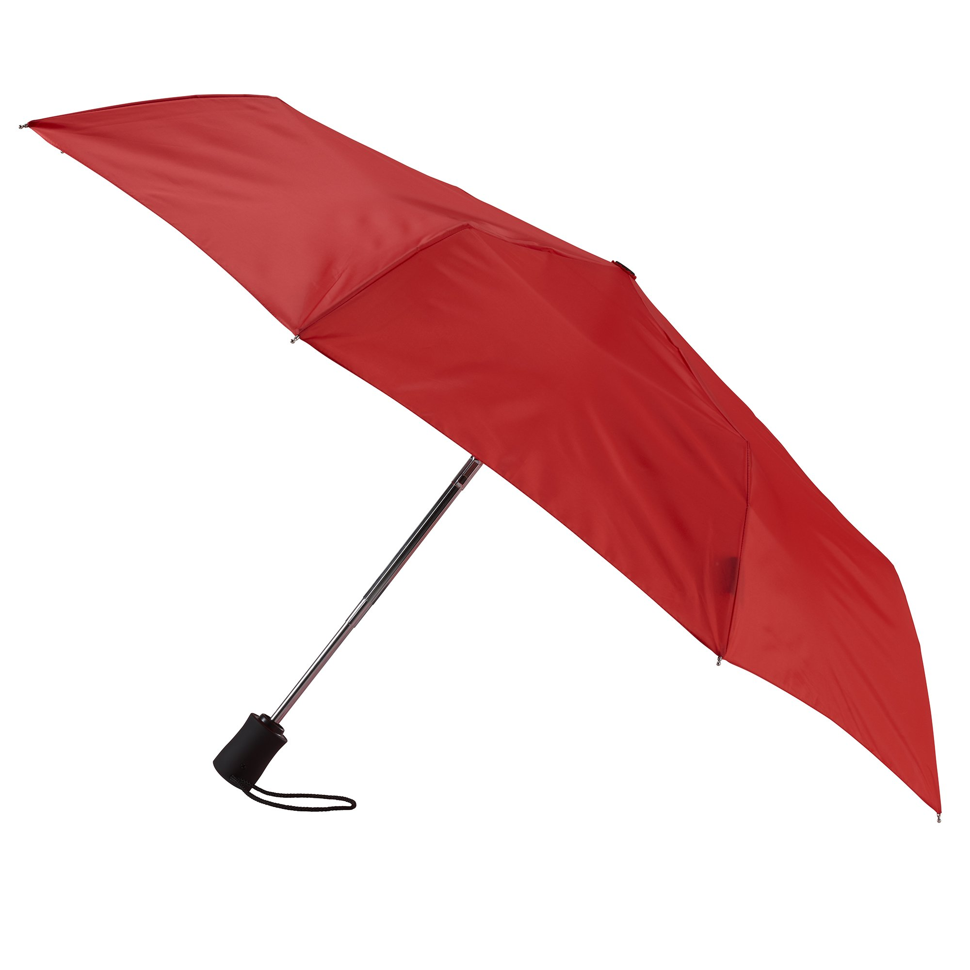 Lewis N. Clark Compact & Lightweight Travel Umbrella Opens & Closes Automatically, Red, One Size