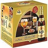 La bière d'origine belge - Leffe Blonde bière de fermentation du monastère de Belgique, 8 bouteilles de 330 ml.
