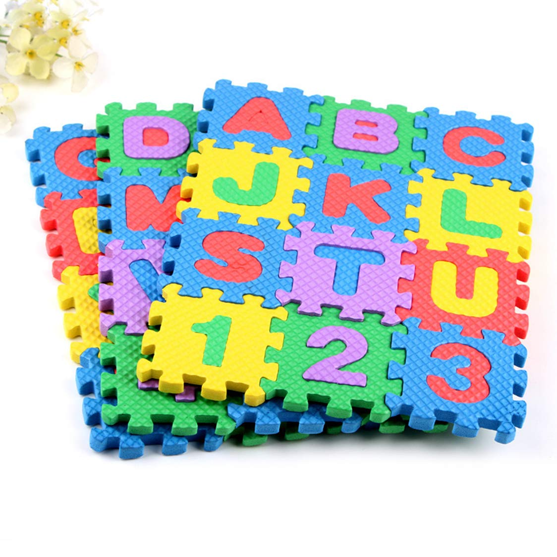 SHUO 36PCS Kids Foam Mat Non Toxic Crawl Mat Baby Tiles Play Puzzle Mat with Softer Thicker EVA Foam Mat for Kids Toddlers Babies (6 6CM)