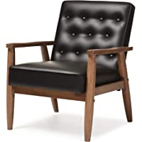 Deals on Baxton Studio BBT8013-Black Chair Armchairs