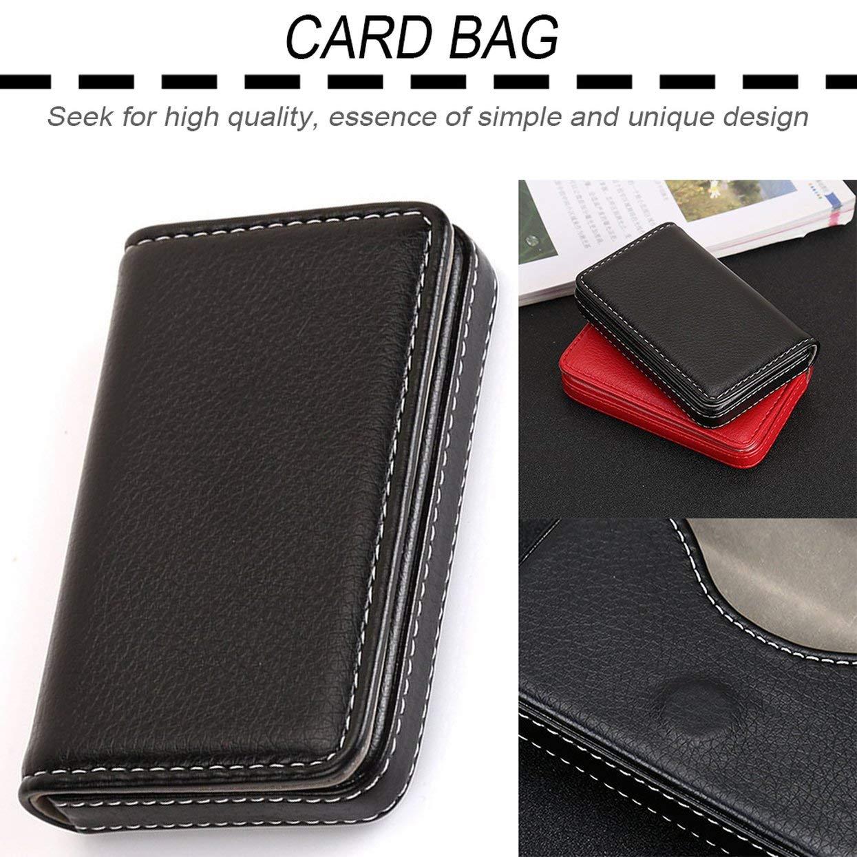 nero Mini sacchetto di carta di disegno magnetica portatile Biglietto da visita Pacchetto di carte PU per carte didentit/à Carte di credito