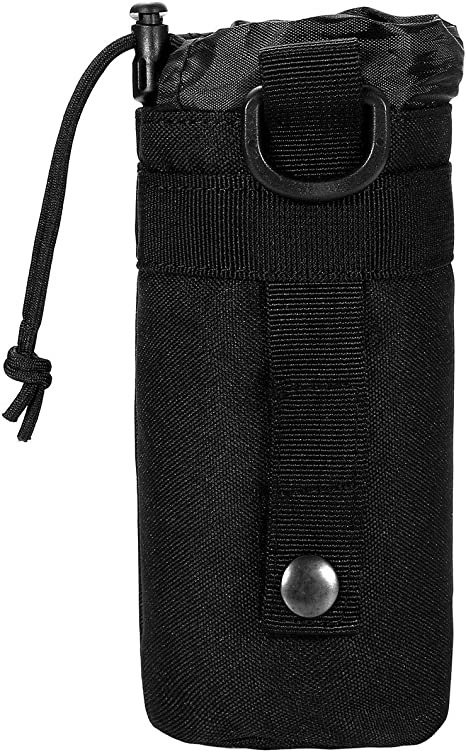 Outdoor Kettle Bag Water Bottle Pouch Tactical MOLLE Military Camping Running
