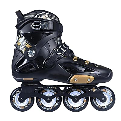 TX Inline Skates for Adult Men Women Unisex Childen Racing Urban Travel Use PP Material Black : Sports & Outdoors