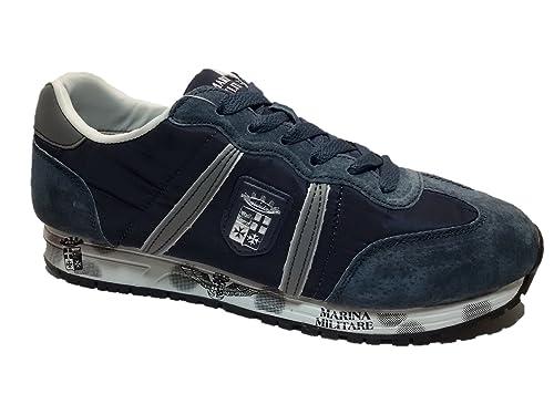 dff39d29740de2 Marina Militare Scarpe Uomo Modello Sneaker Camoscio/Nylon Blu - MM256 (44  EU)