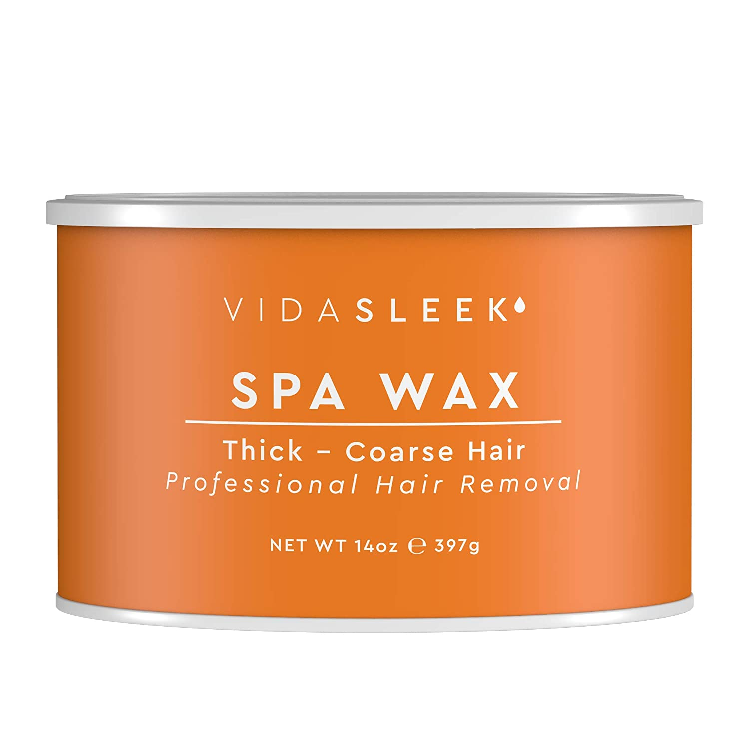 Full Body Spa Wax For Thick to Coarse Hairs - All Natural - Professional Size 14 oz. Tin