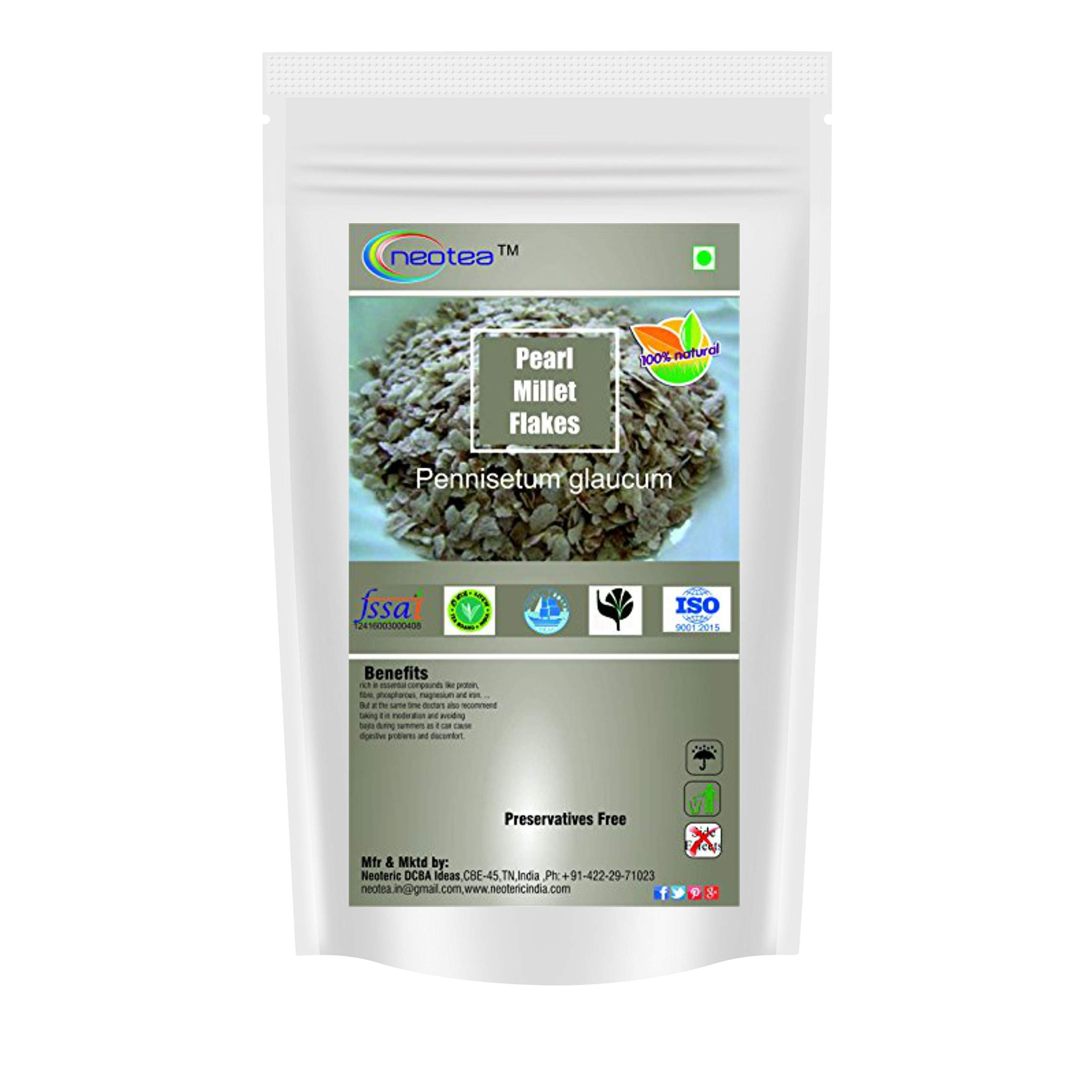 Neotea Pearl Millet Flakes (Bajra Flakes) (250g) by Neotea (Image #1)