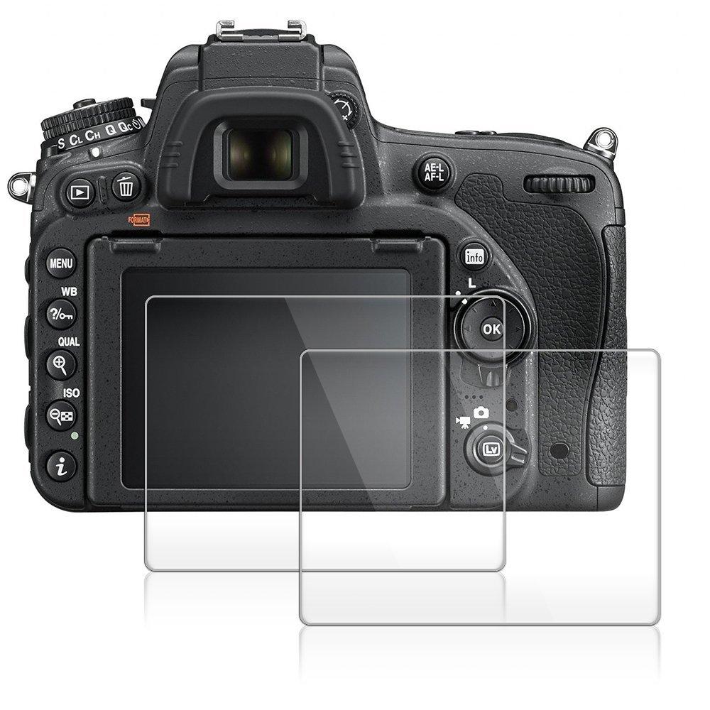 XU-2 Glass Screen Protector Foils Compatible for Olympus E-M10 Mark III II E-M5 Mark II E-PL 9/8 / 7,Tempered Glass Film Anti-Bubble Anti-Scratch Anti-Finger for em10 m3 em5 m2 EPL Camera by XU