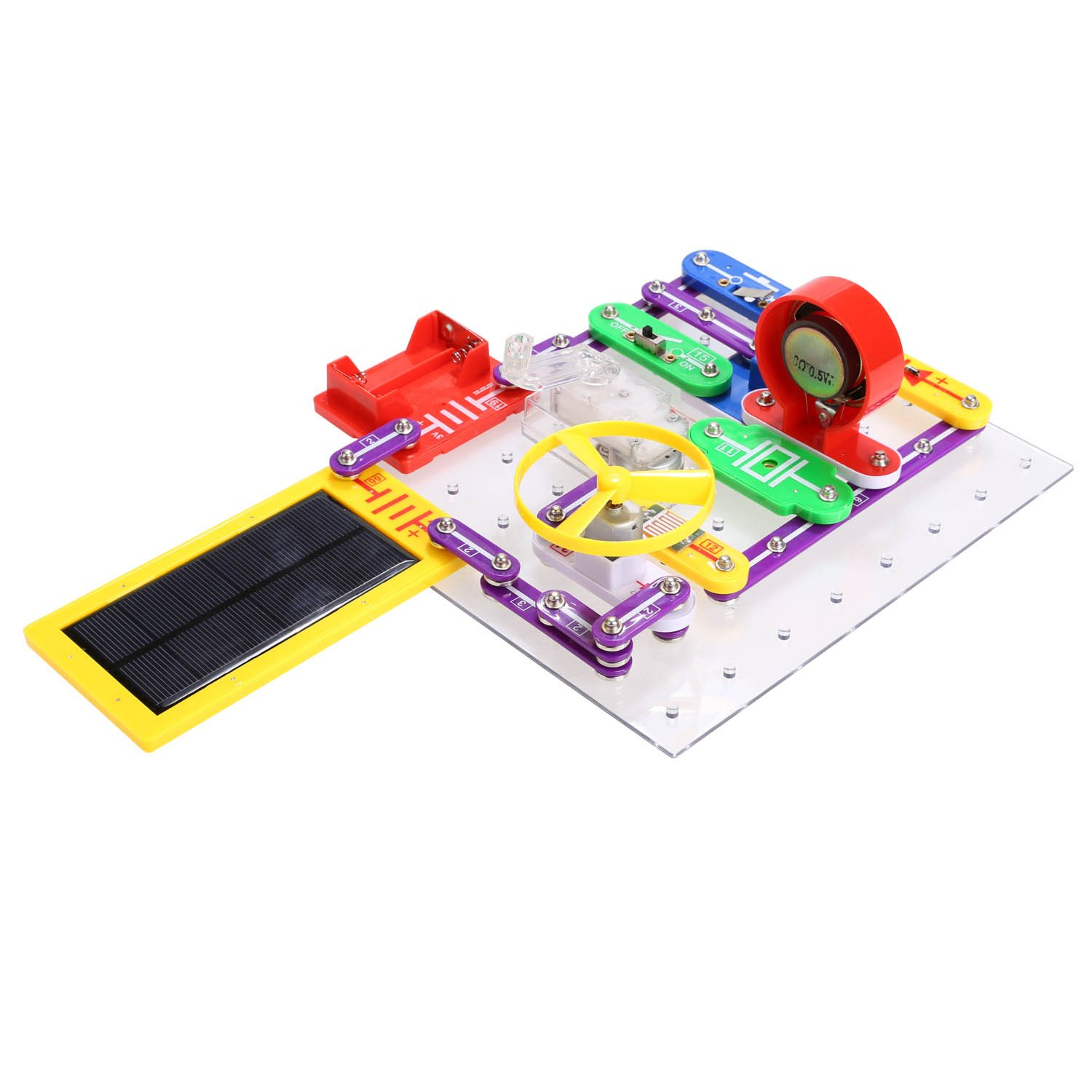 Anfan Electric Circuits Kitkids Electronics Exploration Amazoncom Snap Motion Discovery Kit Toys Kitsolar Block Diy Toy For Child Type 2 Games