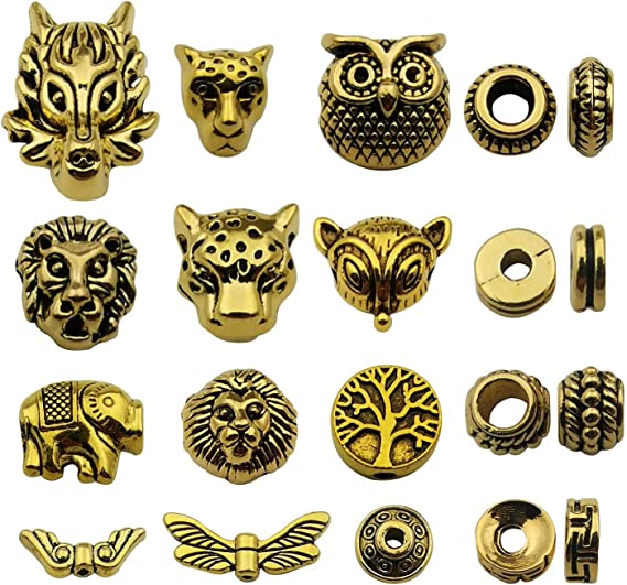 50Pcs Mixed Bronze Tone Filigree Wraps Connectors Metal Crafts Gift Decoration D