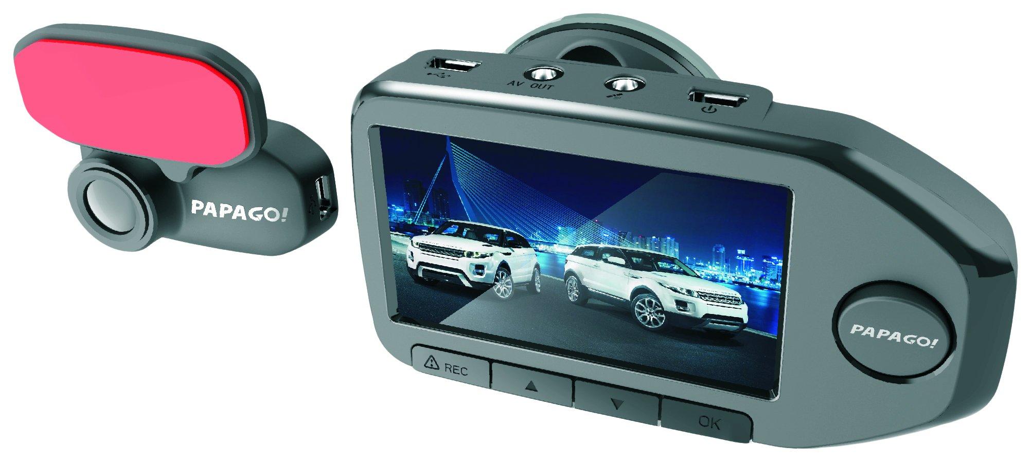 PAPAGO GoSafe 760 Dual Lens Dash Cameras, Black (GS76032G)