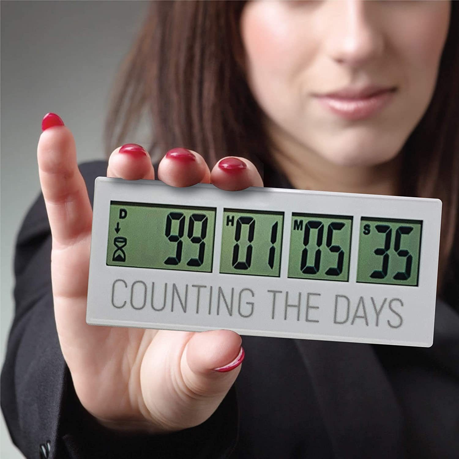 Reusable Countdown Clock for All of The Big Events in Your Life, Wedding Save The Date Countdown, Retirement Countdown Timer, Baby Due Date & Christmas Countdown | up to 999 Day Countdown Timer