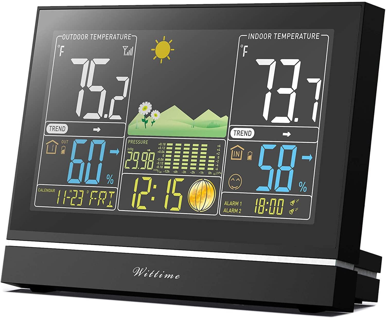 Weather Station Forecaster Wireless Indoor Outdoor Thermometer