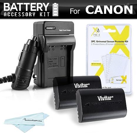 2 Pack Kit de Batería y Cargador para para la Canon EOS 60d, 70d ...