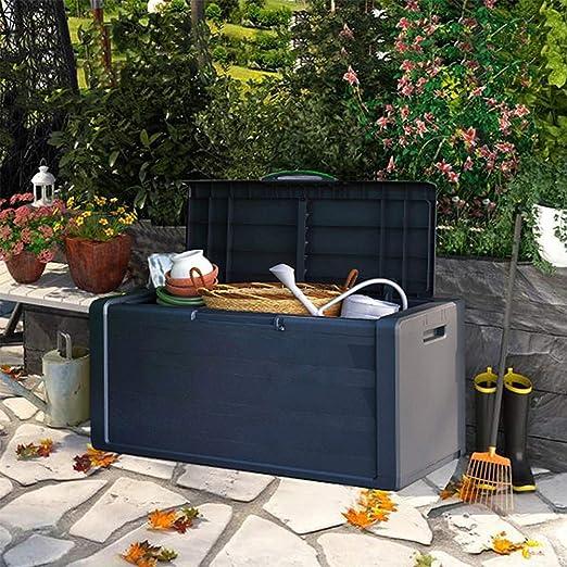 ZHOUAICHENG Caja de PláStico para JardíN Al Aire Libre Caja de Almacenamiento Cobertizo de Gran Capacidad para Protector Solar A Prueba de Agua Patio BalcóN 118 * 55 * 49 cm: Amazon.es: Hogar
