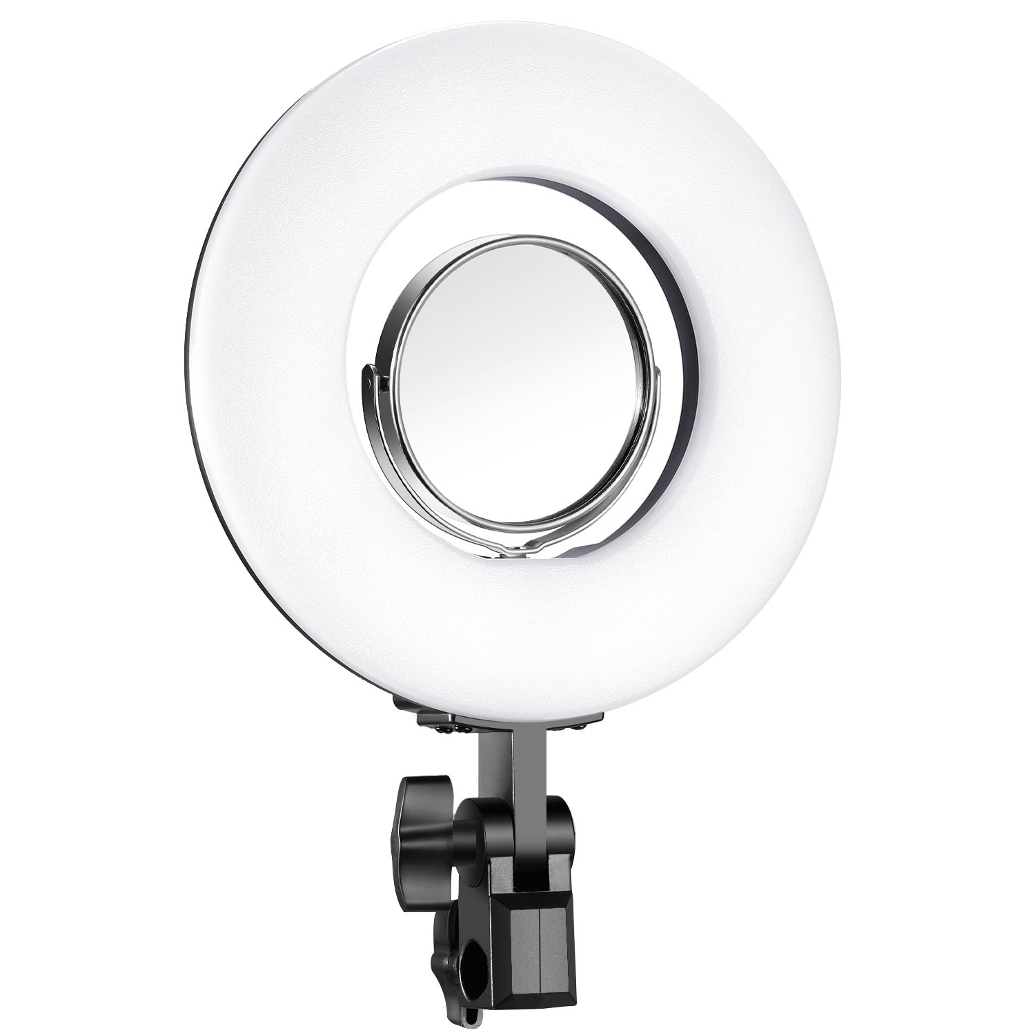 Neewer Dimmable 8-inch Mini LED Ring Light with Flexible Gooseneck, Desk Clamp, 3.5-inch Mirror, Phone Clip, Mini Tripod for Beauty Blog Make up Selfie Portrait Video Photography(No Carrying Bag) 10093563