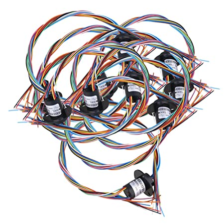 cnbtr 12 wires capsule slip ring 250rpm ac/dc 240v 2a power collector ring  12 2mm set of 10: amazon co uk: diy & tools