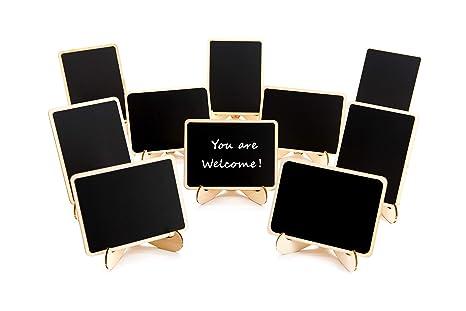 Amazon.com: Paquete de 10 mini pizarras con soporte de ...