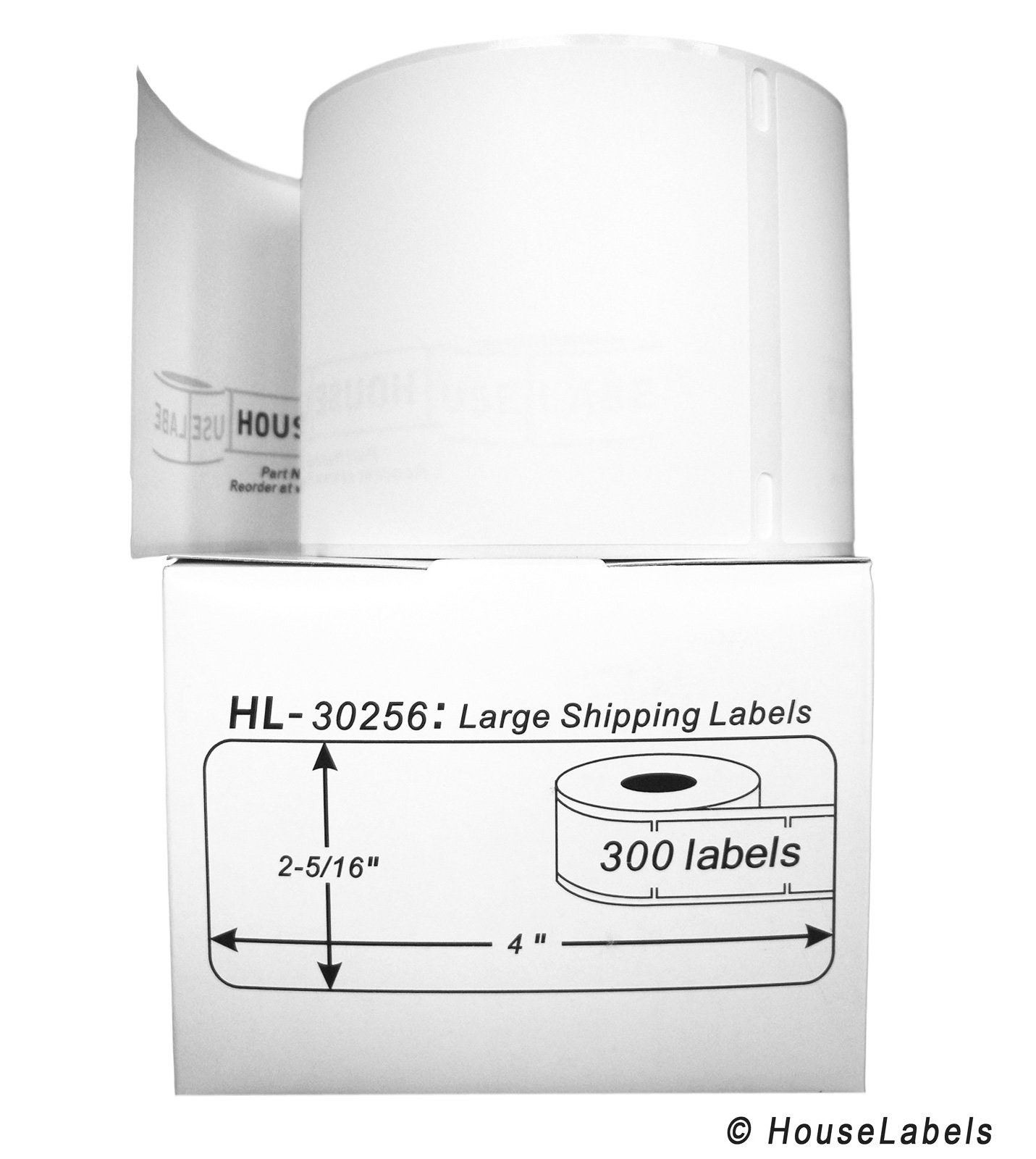 50 Rolls; 300 Labels per Roll of DYMO-Compatible 30256 Large Shipping Labels (2-5/16'' x 4'') -- BPA Free!