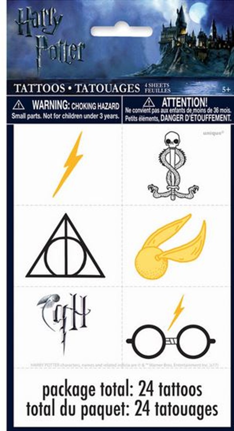 Tatuajes de Fiesta de Harry Potter, 24 Unidades: Amazon.es ...