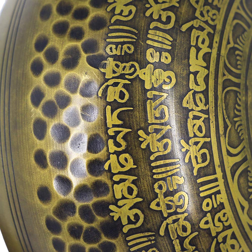 YDJGY Cuenco Tibetano Singing Bowl Pure Copper Turning Music ...