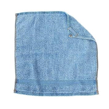 4972ed11e80629 デニム調 ウォッシュタオル 綿100% 約34×35 cm インディゴ おしゃれ ブルー ウォッシュ