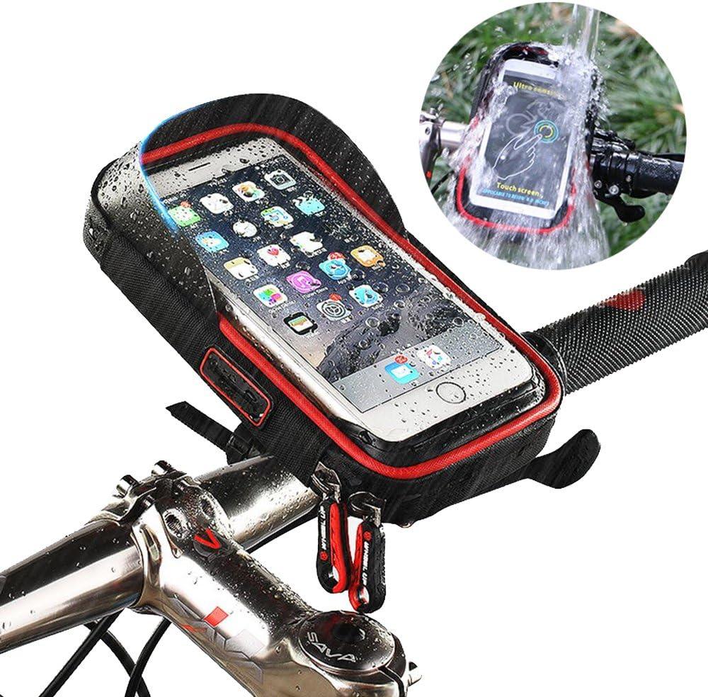 5,8 Pollici VOANZO Borsa da Bicicletta Accessori per Attrezzature da Bicicletta per la Navigazione Prima della Borsa Custodia Impermeabile per Telefono Cellulare