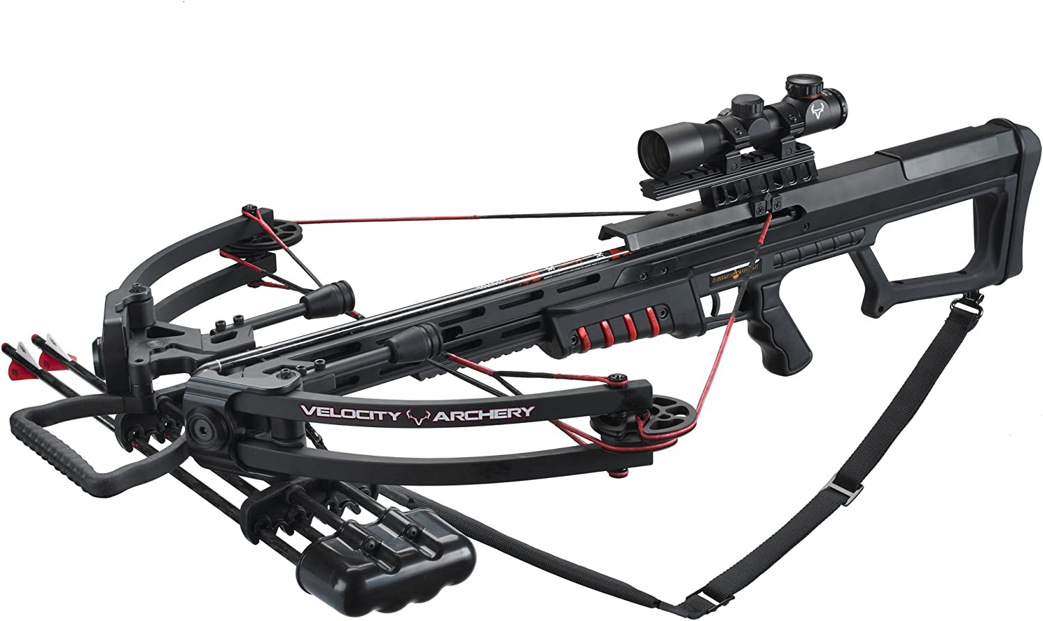 Velocity Archery Armageddon Cross Bow Package, Large, Black