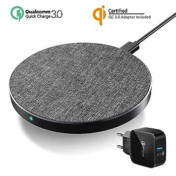 5b643cec826 Wefunix Cargador Inalámbrico Rápido, Qi Quick Charge 3.0 Wireless Charger  USB C 7.5W para iPhone ...