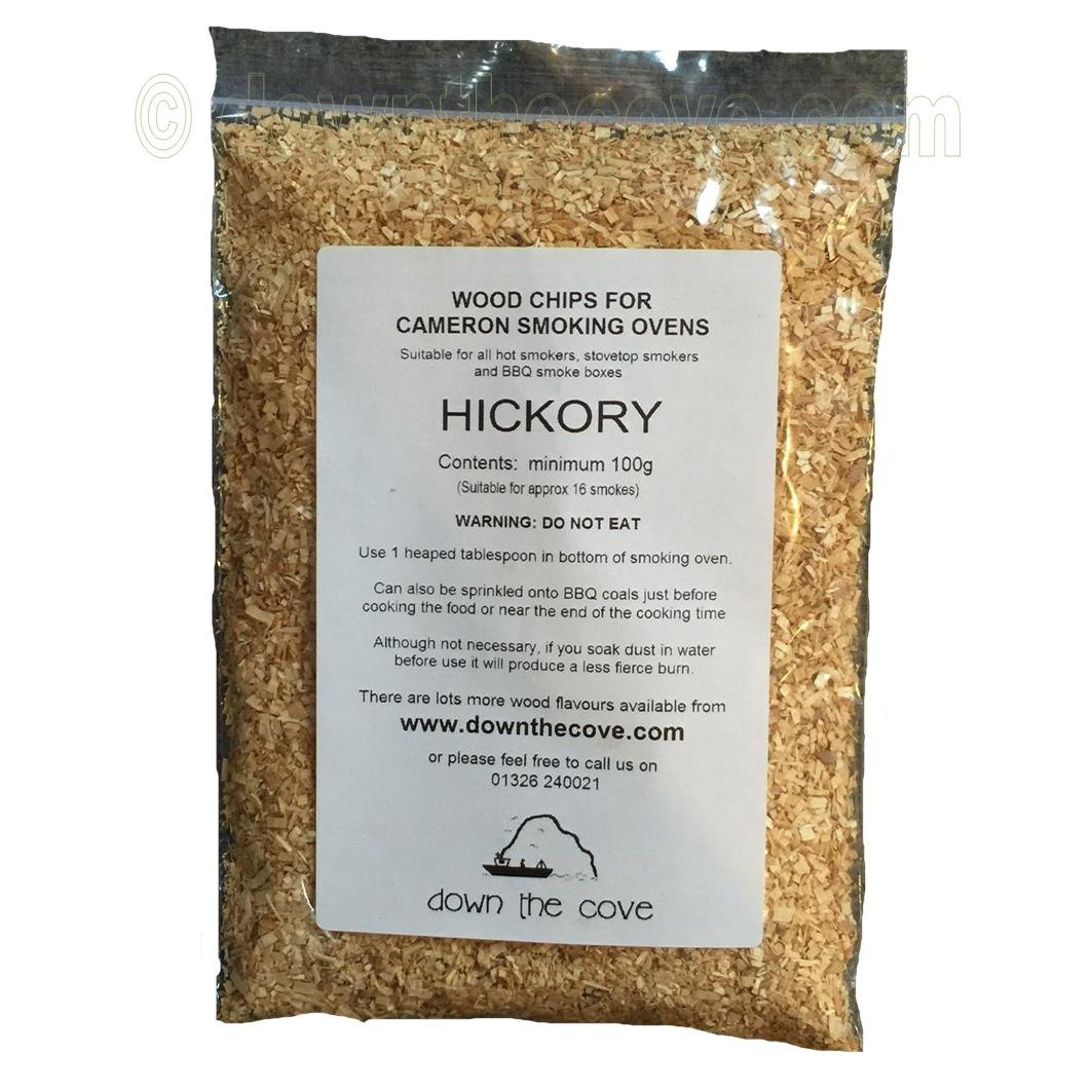 100g Hickory Wood Chips / Wood Dust for Hot Smokers / Smoking Ovens / BBQ Various