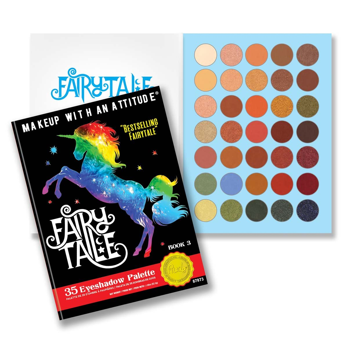 (6 Pack) RUDE Fairy Tales 35 Eyeshadow Palette - Book 3 (並行輸入品) B07BPBBYZG