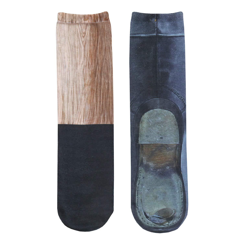 Amazoncom What On Earth Unisex Sublimated Pirate Peg Leg Socks