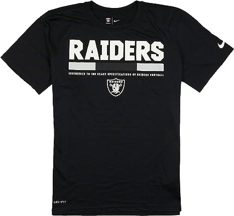Nike Oakland Raiders Team Staff Dri-FIT - Camiseta para hombre, talla mediana, color negro: Amazon.es: Deportes y aire libre