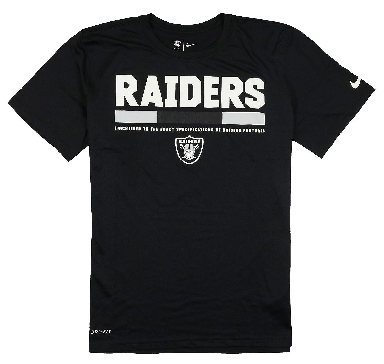 8fcb2177f Oakland Raiders Nike Sideline Legend Staff T-Shirt - Black - Medium:  Amazon.co.uk: Clothing