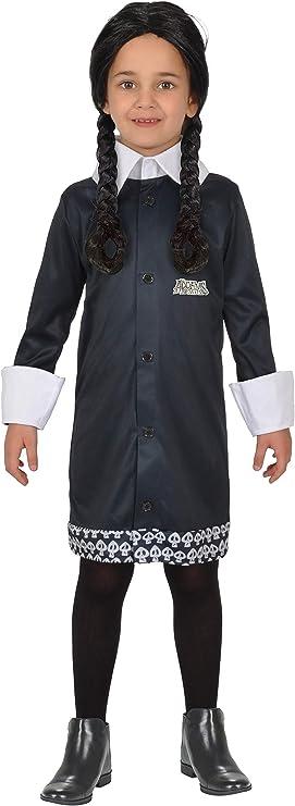 Ciao - Disfraz de Miércoles Addams Family, 8-10 años, niña, negro, 11143.8-10: Amazon.es: Juguetes y juegos