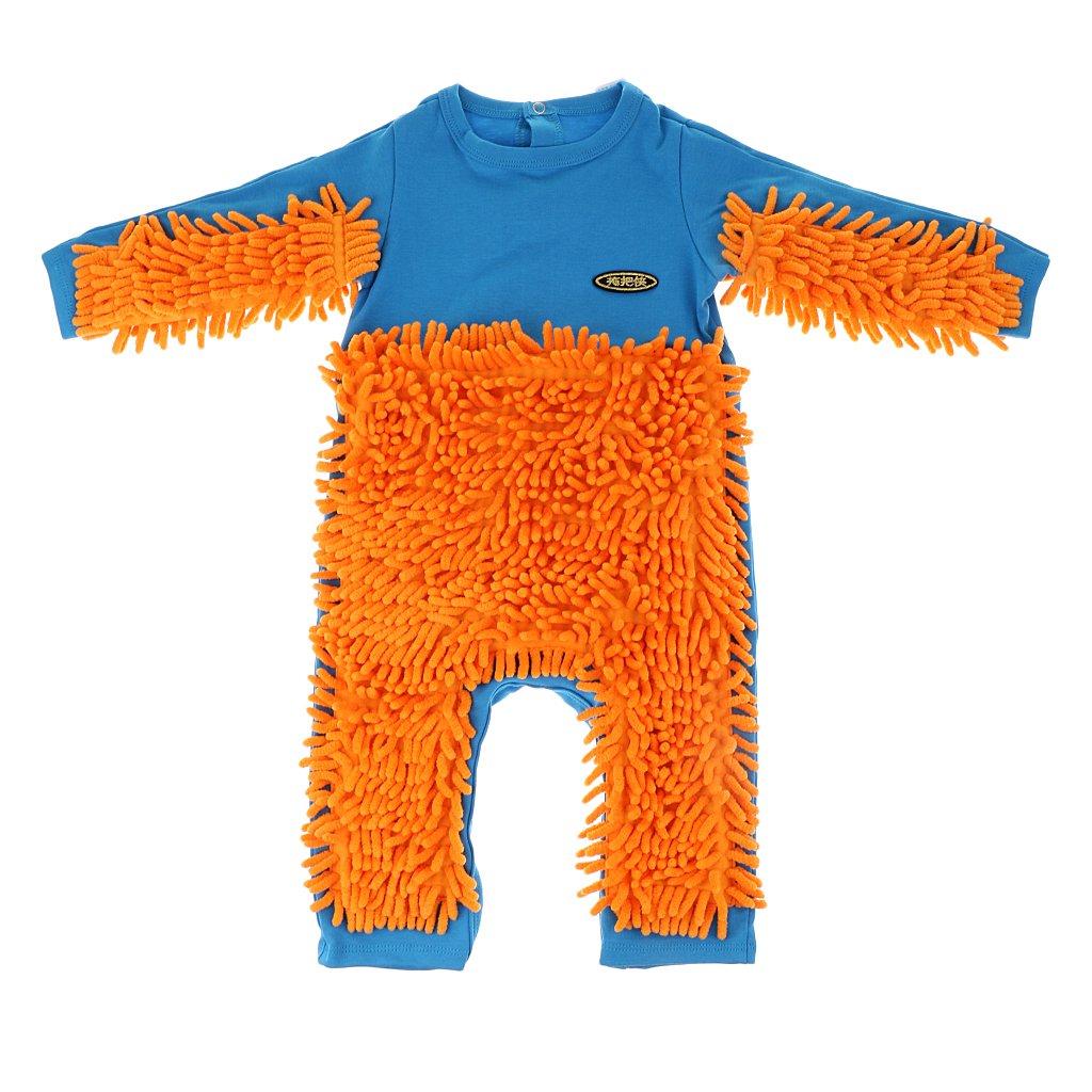 MagiDeal Grenouill/ère Serpill/ère Body pyjama Serpill/ère pour B/éb/é Nouveau-n/é 6-12 Mois Bleu