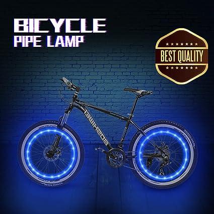 Honche - Cuerda de luz para Rueda de Bicicleta, Resistente al Agua, LED Ultra