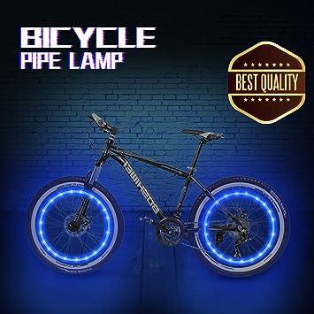 Honche - Cuerda de luz para Rueda de Bicicleta, Resistente al Agua, LED Ultra Brillante, Luces de Rueda de Bicicleta,, 2 Pair Azul: Amazon.es: Deportes y ...