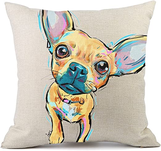 "Home Cotton Linen Car Sofa Waist Cushion Pillow Cover Square Case Pet Dog 18x18/"""