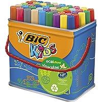 Bic Kids Rotuladores Lavables para Niños, Óptimo para material escolar,Visacolor XL, Punta Gruesa, Con Etiqueta…