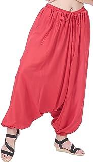 e72d9cd973b CandyHusky Men Women Summer Baggy Hippie Boho Gypsy Yoga Harem Pants One  Size