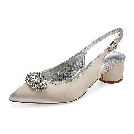 Verano Mujer Zxstz Bombas Satén Primavera Zapatos De wSyvqHT