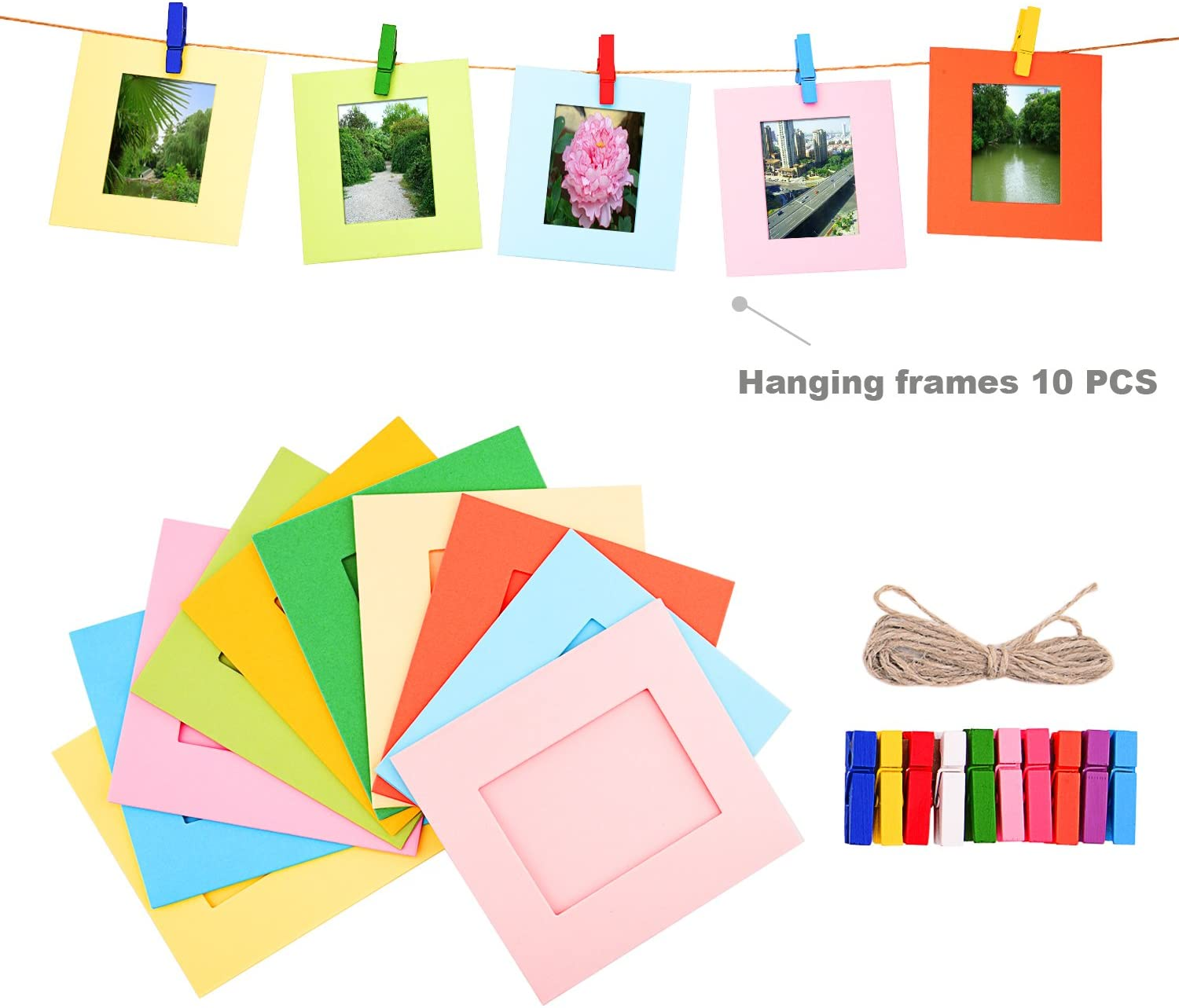 Hanging Frame Accessory Include Film Sticker Sunmns 6 in 1 Colorful Bundle Kit Accessories Compatible with Fujifilm Instax Mini 11//9// 8//90// 70 Camera Desk Frames