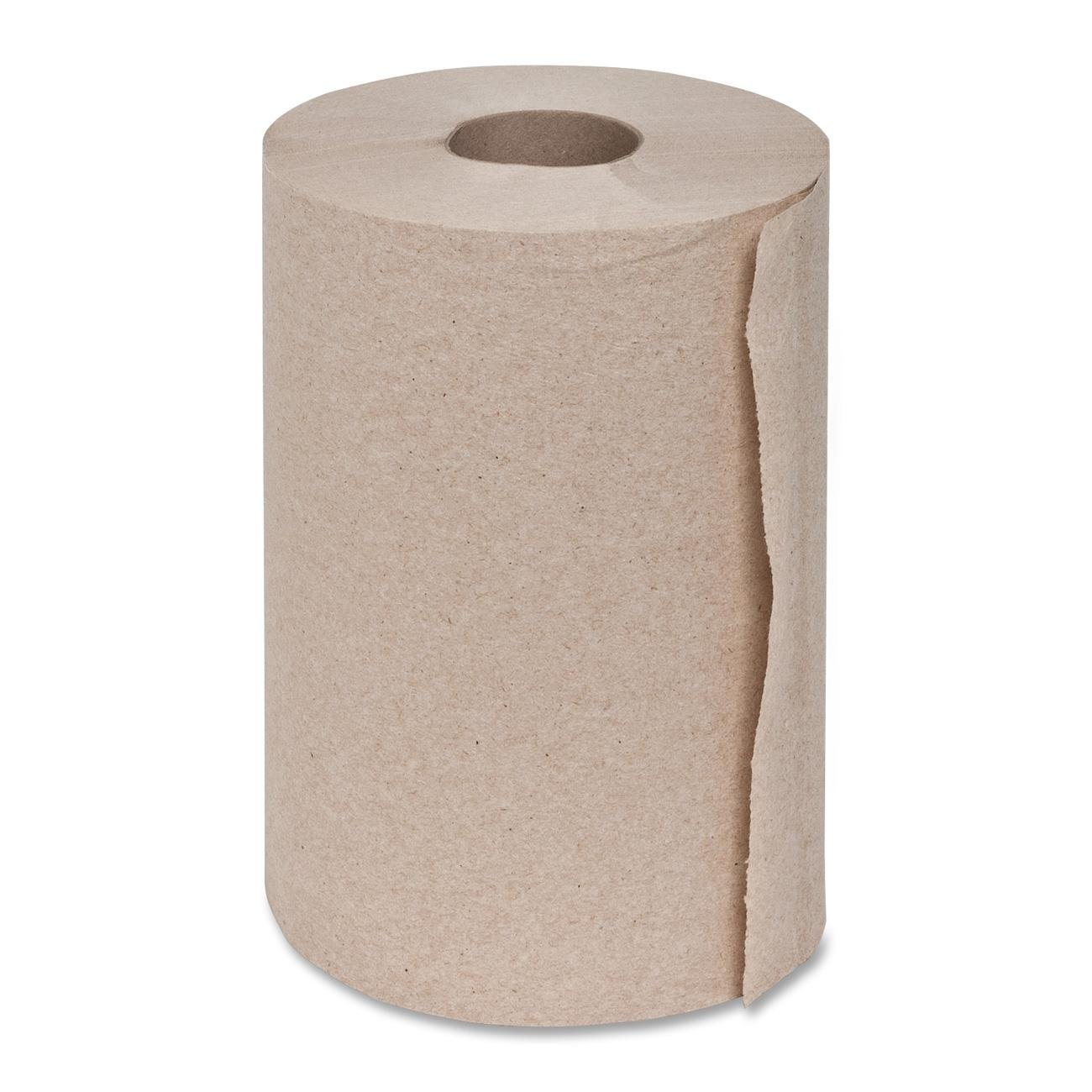 Genuine Joe GJO22200 Hard Wound Roll Towel, 350' Length x 7-8/9'' Width, Natural (Case of 12) (24 Rolls)